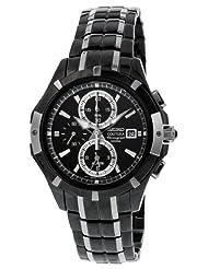 Seiko Men's SNAE57 Black Dial Watch