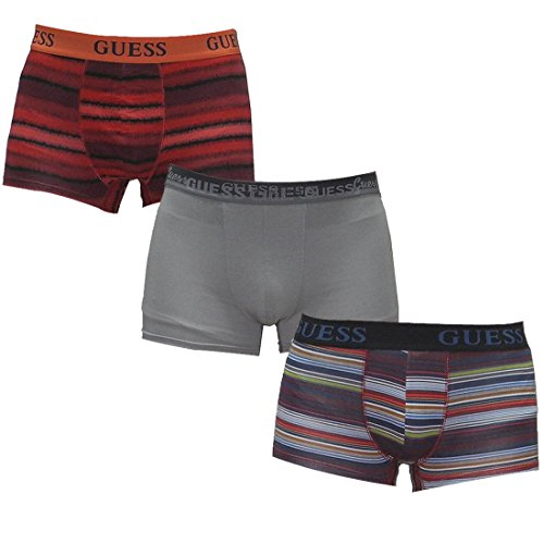 (Pack of 3) Mens Guess Comfortable Fit Boxer Shorts / Underwear S Multicolor