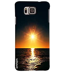 Omnam Pure Sunset In Sea Printed Designer Back Cover Case For Samsung Galaxy Alpha