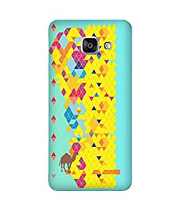 Stripes And Elephant Print-52 Samsung Galaxy A3 Case