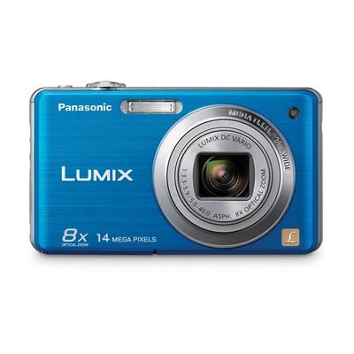 Panasonic Lumix DMC-FH20 14.1 MP Digital Camera with 8x Optical Image Stabilized Zoom and 2.7-Inch LCD (Blue)
