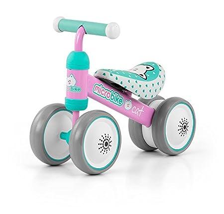 Micro porteur ultra léger (2 kg) et malléable avec roues six pouces disponible en 5 designs: Micro porteur Voiture pour enfants Bobbycar déjà adapté à partir de 18 mois, Thème:Cat