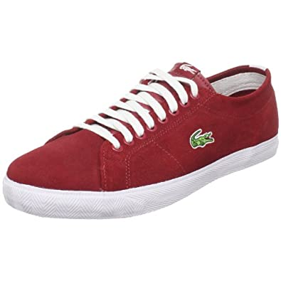 Lacoste Men's Marcel L Sneaker,Dark Red/White,11 M US
