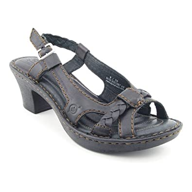 BORN Enga Black Slingback Platforms Shoes Womens SZ 7