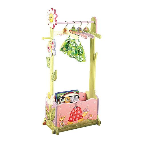 Teamson Magic Garden Valet Rack - Playroom, Nursery Decor, Children'S Furniture, Portable Clothes Rack, Clothing Stand, Home Decor, Bedroom Accessories