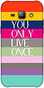 Snoogg Yolo Solid Snap On - Back Cover All Around Protection Forsamsung Galax...