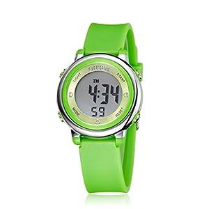 PIXNOR Chicas de múltiples funciones resistente al agua luz de fondo pantalla cuarzo reloj deportivo OHSEN niños mujeres