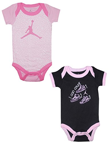 (Pack Of 2) Air Jordan By Michael Jordan Baby Girls One-Piece Romper 0-6M Multicolor front-320631