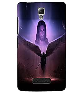 PrintDhaba Lord Jesus D-3754 Back Case Cover for LENOVO A2010 (Multi-Coloured)