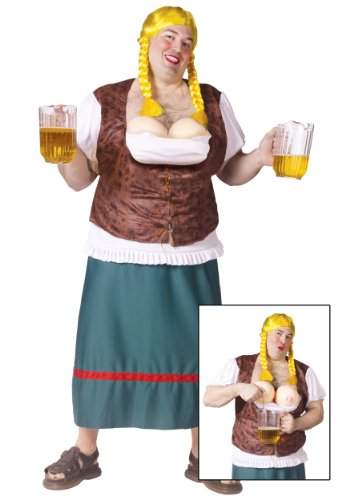 Beer girl male adult plus costume