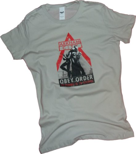 Obey Order -- Batman Arkham City Crop Sleeve Fitted Juniors T-Shirt