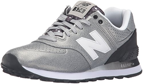 New Balance 574 - Scarpe Running Donna, Multicolore (Silver/Black 097), 39 EU