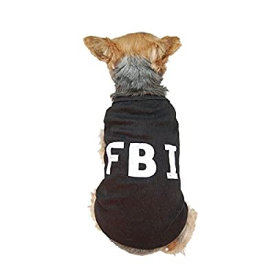 Cute Pet Dog Puppy Style Cotton Clothes Vest T-Shirt Apparel Fbi Police