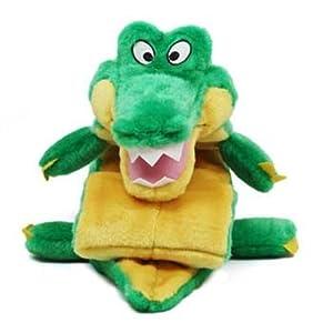 Kyjen 2435 Squeaker Mat Gator 32-Squeaker Plush Squeak Toy Dog Toys, Extra Large, Green