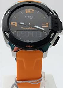 Tissot Men's T0814201705702 T-race Analog-Digital Display Swiss Quartz Orange Watch