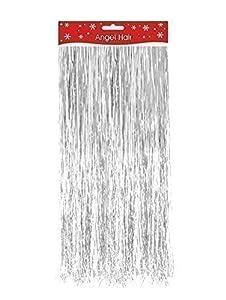 Amazon.com: Silver Christmas Xmas Decoration Angel Hair ...