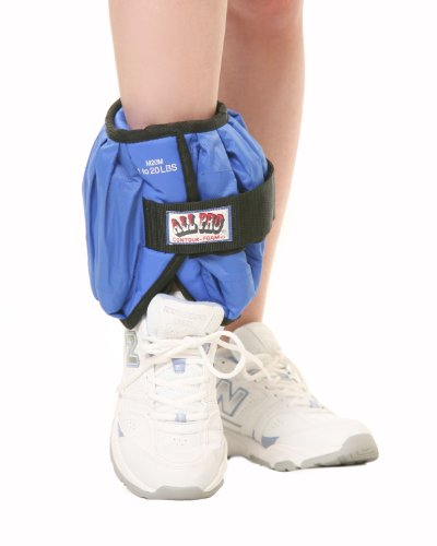 All Pro Weight Adjustable Ankle Weight 20-lb individual up to 20-lbs on one ankleB0000YE3YA