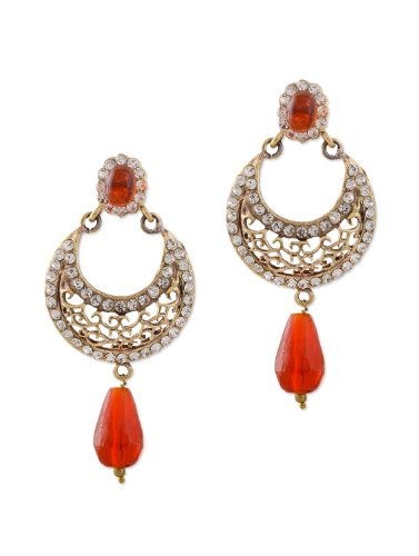 Bazarvilla jaali pattern drop earrings RCJ3056