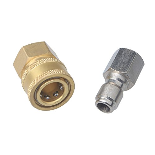 DUSICHIN DUS-238 3/8 Inch Quick Connect Fittings for High Pressure Washer Hose (Washer Plug Adapter compare prices)