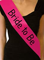 Hot Pink Bachelorette Hen Party Girls Night Out Bride to Be Sash