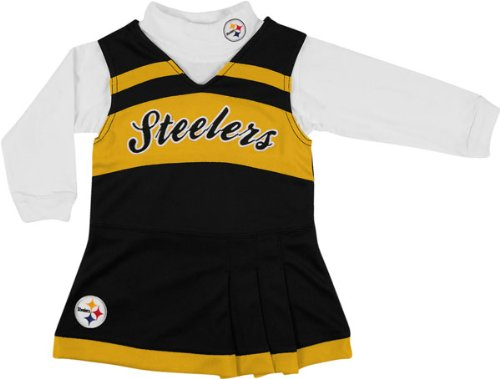 Pittsburgh Steelers Girls 7-16 Black Jumper & Turtleneck Set at Amazon.com