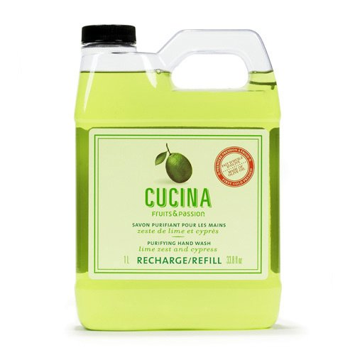 Cucina Lime Zest and Cypress 33.8 oz Purifying Hand Wash Refill (Fruits And Passion Cucina compare prices)