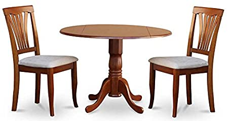 3-Pc Dinning Set in Saddle Brown Finish