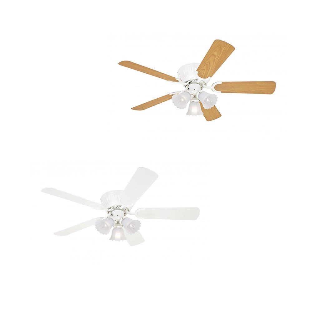 Pepeo extra flacher Deckenventilator, 105 cm, kisa weiß 10512015
