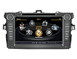 See SDB 2 Din 8.0 inch Car DVD Player With GPS Navigation(free Map) For Toyota Corolla 2009,2010,2011 Audio Video Stereo System with Bluetooth Hands Free, USB/SD, AUX Input, Radio(AM/FM), TV, Plug & Play Installation Details