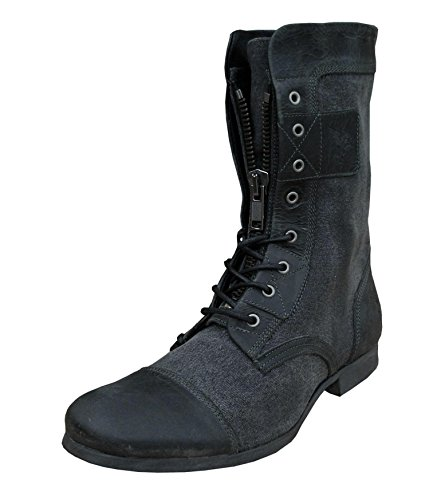Henleys SAKURA Stivali Boots Moda Pelle Grigio per Uomo