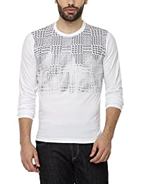 PepperClub Men's Cotton Round Neck Full Sleeve Printed Tshirt