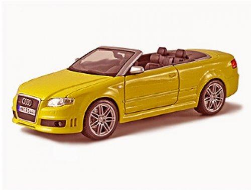 Maisto Modellauto 1:18 Audi RS4 2007 gelb Cabrio