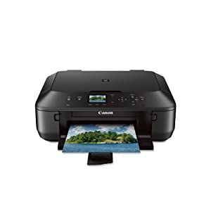 Canon PIXMA MG5520 Wireless All-In-One Color Photo Printer with Scanner, Copier and Auto Duplex Printing, Black (Tablet Ready)