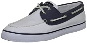 Sperry Top-Sider Women's Bahama,White/Navy,8.5 M US