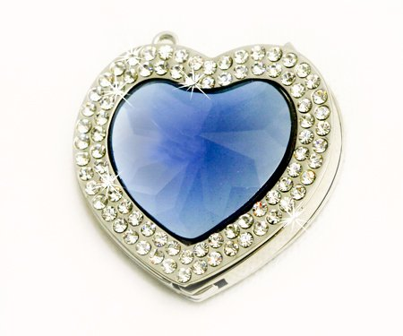 Valentine Blue Heart Foldable Purse Hanger with FREE Gift Box by Small Goby