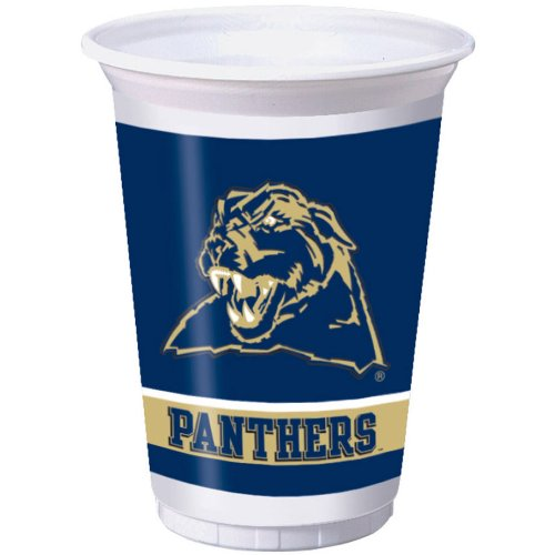 Creative Converting Pittsburgh Panthers Printed Plastic 20 oz. Cups (8 Count) - 1