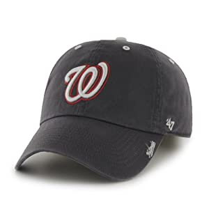 MLB Washington Nationals '47 Brand Ice Adjustable Cap, One Size, Charcoal