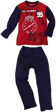 Disney - Cars - Pyjama patch clignotant Flash Mc Queen - Garçon - Bleu Foncé/Rouge - 2 ans/92
