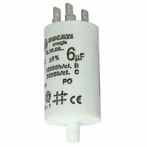 spares2go Start Run Motor Kondensatoren für Bosch Geräte 331.13215uF MF bis 80uF Spaten Connector/Tags 6UF