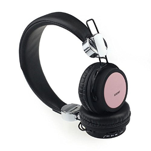 Tonsee(Tm) 1Pc Stylish Wireless Bluetooth Stereo Headset Headphones Mic For Mobile Phone Pc (Pink)