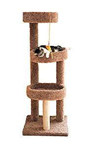 Miller's Cats 1002 Pad Cat Furniture with 3 Plush Carpeted Platforms