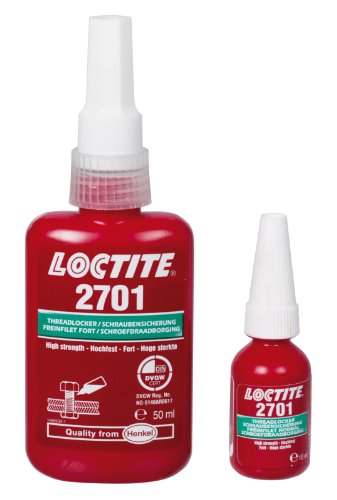Loctite 2701, Maximum Strength Thread Locking, Content 50 ml ================================================= Actual safety data sheet from 08.01.2013 on the internet in the section Downloads =================================================