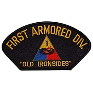 """U.S. Army 1st Armored Division Hat Patch 2 3/4""""x5 1/4"""""""