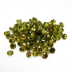 Round 3mm Olive Green CZ Cubic Zirconia Loose Stone Lot of 500 Pieces