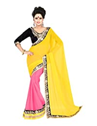 Atmiya Fashion Women's Georgette Saree With Blouse Piece - B00WEMT02Q