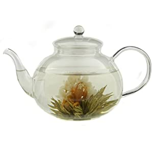 Teas Etc 8 Piece Flowering Tea Gift Set with Traditional Teapot from Teas Etc