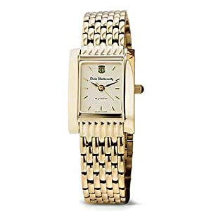 Duke University Ladies Swiss Watch - Gold Quad Watch with Bracelet by M.LaHart & Co.
