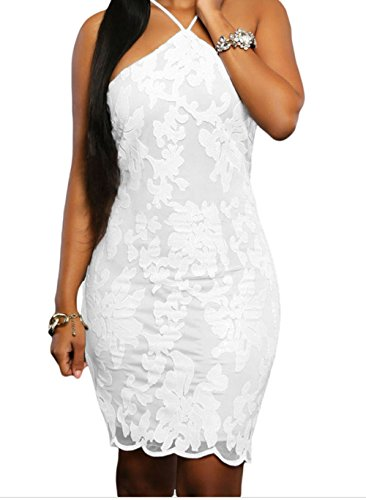 YFFaye White Lace Floral Luxe Party Dress L (Stag Arms Model 3 compare prices)