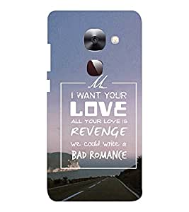 EPICCASE Bad romance Mobile Back Case Cover For LeEco Le Max2 (Designer Case)