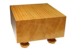 Lee Changho Signature Go Board: Single Piece Kaya Go Board with Hand Carved Legs 8.3''